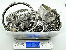 Job Lot 517.2g Solid Silver Jewellery etc Sold as Scrap Without Stones