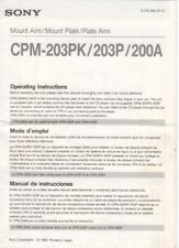 Sony-cpm-203pk 203p 200a-operating instructions-b7931