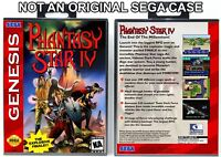 Phantasy Star IV - Sega Genesis Custom Case *NO GAME*
