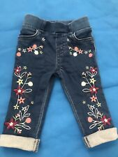 Baby Girl 0-3 Months Leggings Embroidery Jeans Pants Trousers