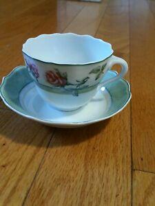 VINTAGE HUTSCHENREUTHER GERMANY MEDLEY PARKLANE CUP & SAUCER