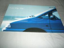 Peugeot 806 Summer Special editions Aquamarine & Roland Garros brochure May 1998