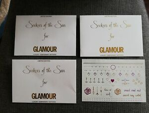 Limited Edition Luxyary Temporary Tattoos  x  3