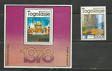 TOGO 1978 CORONATION MINIATURE SHEET AND SEPARATE STAMP, MNH