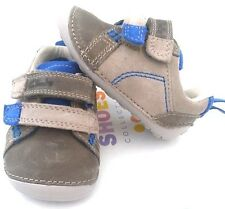 Clarks Tiny Soft Blue Leather Toddler Boys Shoes Size 2h