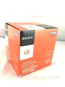 NEW SONY DT 35mm F1.8 SAM Lens for Alpha A Mount APS-C Format (SAL35F18)