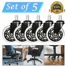 Rollerblade Style Office Chair Caster Pack Of 5 Replacement Wheels Heavy Duty