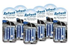 New Refresh Your Car AC Vent Stick Air Freshener Scent Eliminates Odor pack of 6