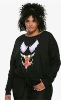 NWT Her Universe Marvel Comics VENOM 30th Anniversary Cinch Pullover sz 4 (PLUS)