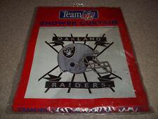 New Vintage Rare Oakland Raiders Team NFL 70 X 72 Shower Curtain 1996 Jay Franco