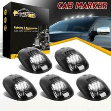 5xSmoke Cab Roof Marker White 12 LED Top Lights 264146BK for Dodge Ram 2003-2018
