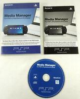 Sony PSP CD Media Manager for PSP VF Transfert Musique Videos Envoi rapide suivi