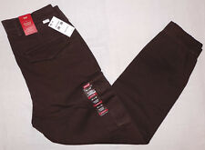 LEVIS MENS BANDED CARGO JOGGER STRETCH PANTS 30X30 BLACK COFFEE 246750011 Levi