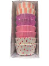 Meri Meri 100 Cupcake Cases Pink/hearts/stripes