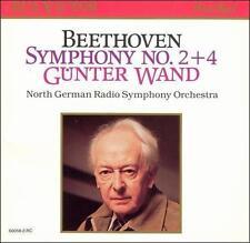 Beethoven Symphony No. 2+4 Gunter Wand CD RCA Red Seal 60058-2-RC N.German Radio