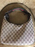 GUCCI 100% Authentic Monogram Medium Pop Hobo Dark Brown women's handbag *SALE**