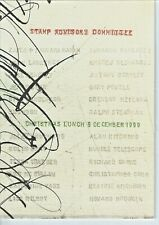 Royal Mail philately - Stamp Advisory Committee - Christmas Lunch menu 1999