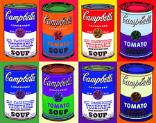 Warhol Andy Campbells 8 Soup Cans Print 11 x 14   #  #3173