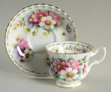 Royal Albert Flower of the Month September Cup, Saucer and Salad Plate
