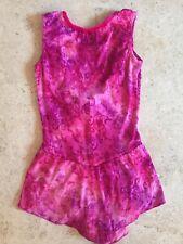 Figure Skating Dress Pink Purple Lace Overlay Dress - Size Child L/XL Adult XS/S