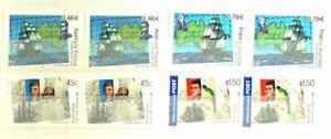 AUSTRALIA-FRANCE 2002 BAUDIN-FLINDERS BICENTENARY PAIRS MNH