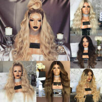 Wigs Cosplay Wavy Cool Wig Blonde Long Hair Full Women Natural Front Curly Lace