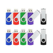 100 Pack 4GB USB2.0 Flash Drive Swivel Thumb Pen Drive Flash Memory Stick U Disk