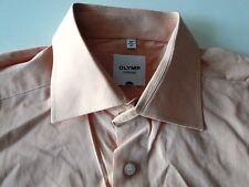 Olymp Tendenz Herren Hemd Langarm Orange Unifarben Baumwolle KW41