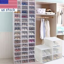 12-30x Shoes Boxes Sundries Box Shoes Storage Case Organizer Container for Home