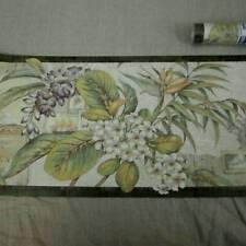 Floral Wallpaper Border Earth Tones Prepasted Vinyl NEW 2 Rolls 30 Ft