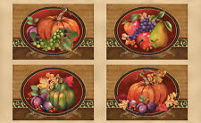 "Autumn Fall Thanksgiving Cotton Fabric Thankful Harvest Place Mat 24""X44"" Panel"