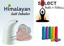 Himalayan Pink Salt Inhaler with 170g of Salt + 5 Salt Filled Travel Inhalers