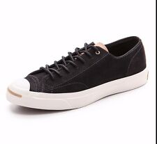 NEW $90 Converse Jack Purcell Split Tongue Leather Ox Black 144384C US Mens 10