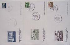 Stadspost Zaanstad 1989 - 3 FDC's zegels met Opdruk op NVPH 792-794 Landschap