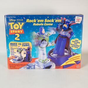Toy Story 2 Rock 'em Sock 'em Robots Game MIB Buzz Lightyear EMPEROR ZURG Mattel