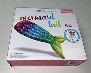 "Intex Inflatable Mermaid Tail Swimming Pool Float Adult Only Rainbow 70"" Raft"