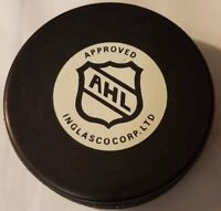 SYRACUSE CRUNCH VINTAGE OFFICIAL AHL VEGUM MADE IN SLOVAKIA INGLASCO HOCKEY PUCK