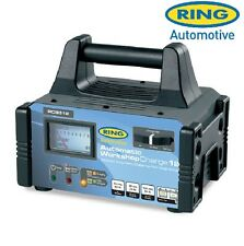 Ring Heavy Duty Workshop Dual 6v 12v 12A Fast / Slow Car Battery Charger RCB312