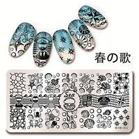 Harunouta 12*6cm Nagel Kunst Stamping Schablone Platte See Muschel Design L012