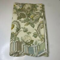 waverly home classics curtain panel valance 100% cotton green cream floral