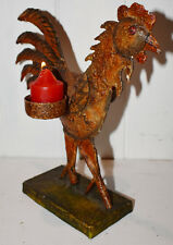 Candle Range Chicken 2cup 26x25cm Painted Iron