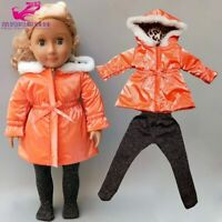 "Born Baby Doll Clothes Long Coat Stocks 18"" Doll Winter Clothes Jacket Doll"