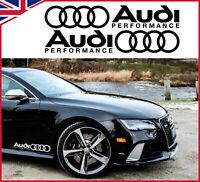 AUDI PERFORMANCE RS SPORT CAR STICKER DECAL LOGO DECOR RACING VINYL GRAPHICS