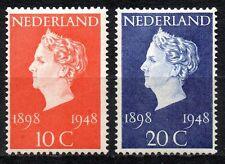 Netherlands - 1948 Silver jubilee Wilhelmina Mi. 507-08 MNH