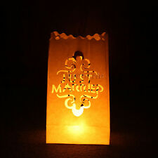 Tea Light Holder Luminaria Paper Lantern Candle Bag Party Wedding Decoration Just Married 10pcs
