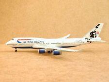"British Airways B747-400 (G-BNLR) ""HongKong livery"", Gemini Jets, 1:400! Rare!"