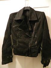 Giacca giubbino chiodo cotone MORGAN nero black cotton jacket size S/M