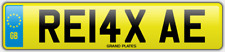 Relax Relaxed number plate RE14 XAE CAR REG FEES PAID RELAXING DRIVE CHILL COMFY