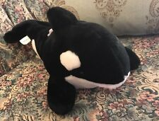 "Killer Orca Whale Sea World Plush Toy Stuffed Animal Realistic Sealife 15"" #F5"