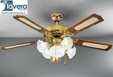 Ventilatore soffitto 7066-ORO 130cm 5 LUCI SUPER PREZZO LEGGI E FAI UN'OFFERTA